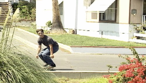 Trailer Park Skateboarder Gets Chased off by Granny
