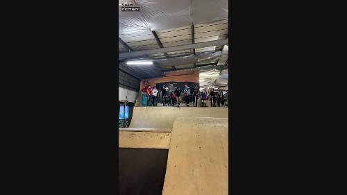 Kid Fails Backflip off Ramp