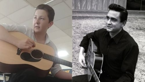 This kid might be the ghost of Johnny Cash