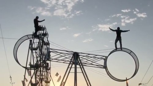 Duo Practice Balance Routine on the Wheel of Death