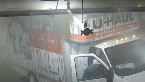 A U-Haul Truck Wrecking a Parking Garage Is Comedic Gold