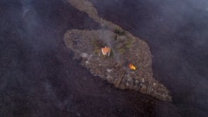 Miracle House? Building Somehow Spared From La Palma's Lava Flow