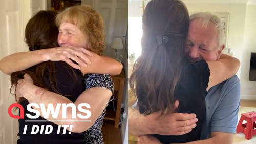 Heartwarming moment UK girl surprises grandparents to tell them she's officially a doctor (RAW)