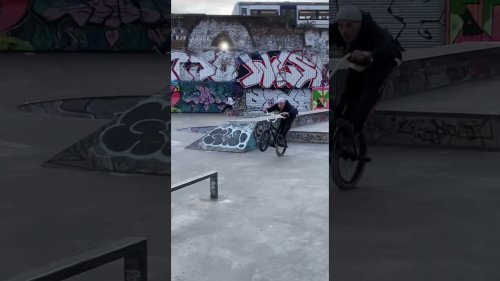 BMX Kid Pulls Off Impressive Wheelies