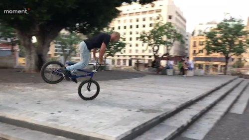 Dope BmX Rider Performs Nose Manual Trick