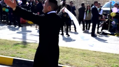 While waiting for Pope, Iraqi priest breaks out dance moves