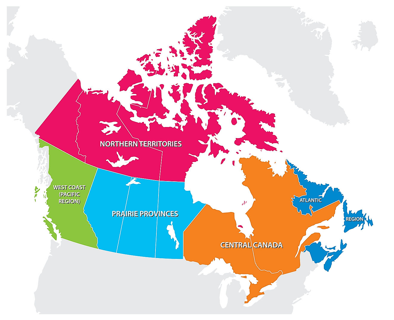 The 5 Regions Of Canada
