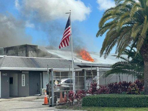 Pompano Beach warehouse fire