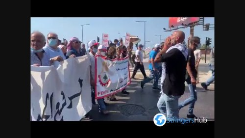 Lebanese Citizens Take To The Streets In Beirut
