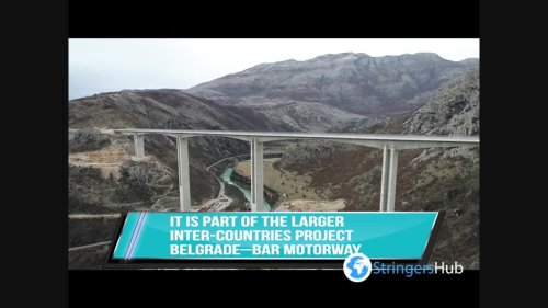 The first highway in Montenegro will be completed by the end of the year. Drone footage