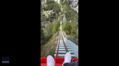 Traveler Takes a Stunning Ride on Switzerland's Gelmerbahn