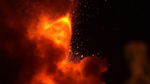 Italy's Mt. Etna erupts, putting on dramatic show