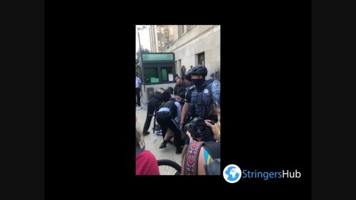 US: Police Removes Protesters Outside Of Bureau Of Indian Affairs In Washington, D.C.