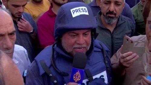 Gaza tower housing AP, Al Jazeera collapses