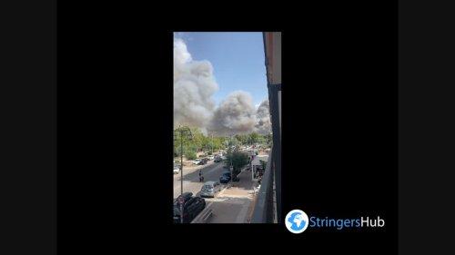 Italy: Wildfires Continue Raging In Pescara, Abruzzo