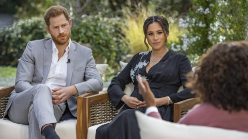 Prince Harry, Meghan Chat With Oprah
