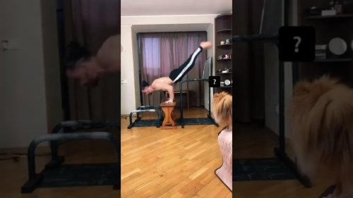 Man Maintains Super Strong Jump