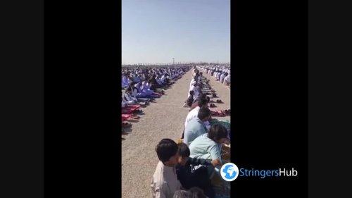 Eid al-Fitr prayer in Zahedan, Balochistan, Pakistan
