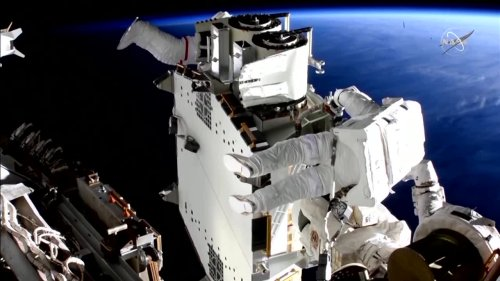 Watch time-lapse video of a ISS spacewalk