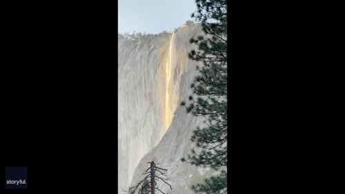 Yosemite National Park Visitors Treated to 'Firefall' Phenomenon