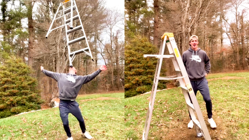 'Minnesota Man Dancing with a Ladder on his Face'