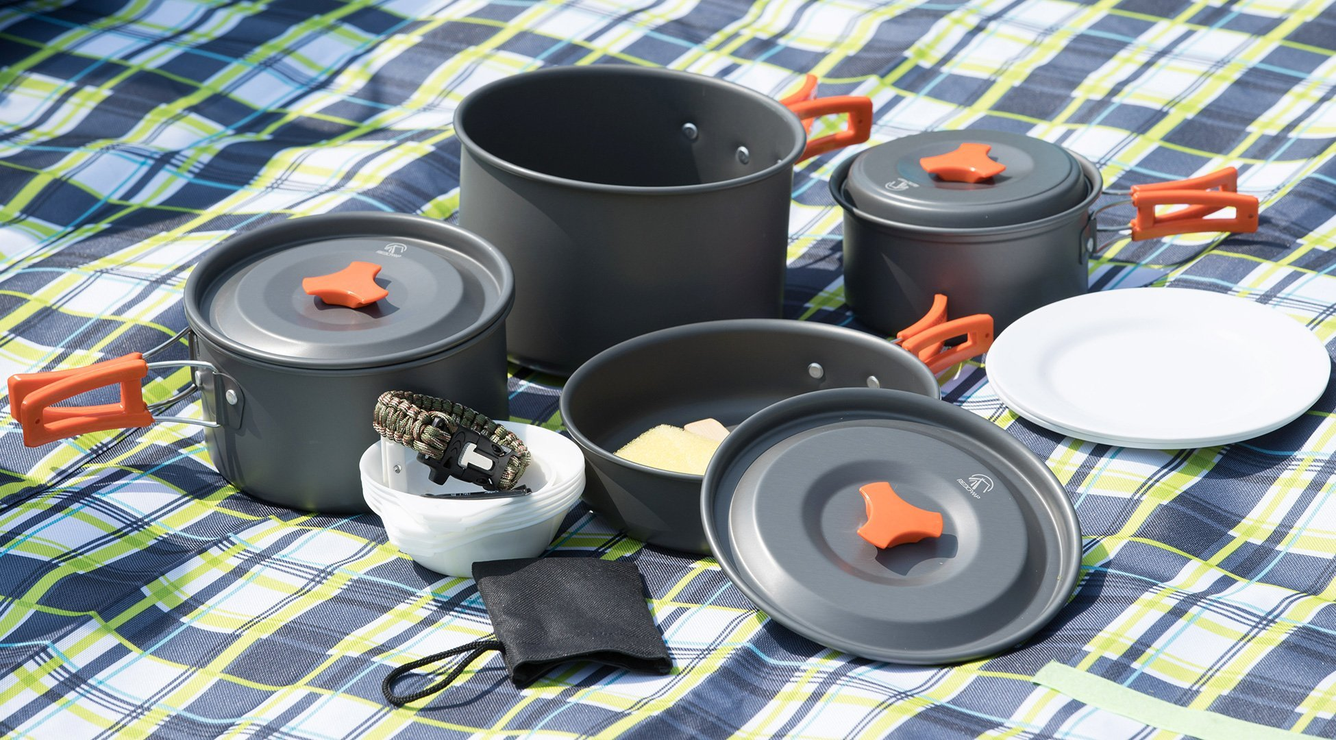 23-piece camping cookware set