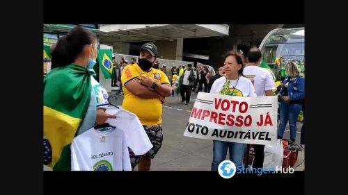 March of the Christian Family by Liberdade Avenida Paulista in São Paulo, Brazil