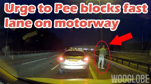 'Driver Stops Car in the Fast Lane on Motorway to Pee, Blocks All Traffic Behind him'