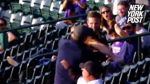 Padres fan knocks out Rockies fan with one punch in wild video