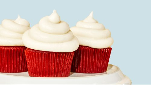 These Red Velvet Cupcakes Are Topped With The Most Decadent Cream Cheese Frosting