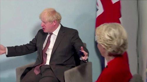 'We've got the chairs' Johnson tells Von der Leyen at G7