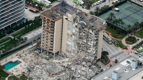 At least 1 dead after apartment building partially collapses near Miami