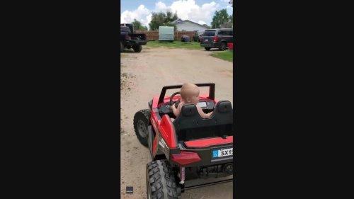 Colorado Baby Shows Impressive Driving Skills