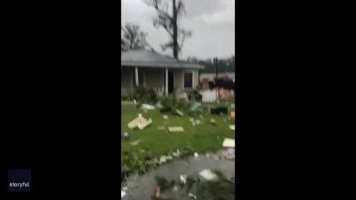 Tornado Causes Major Damage in East Brewton, Alabama, Amid Tropical Storm