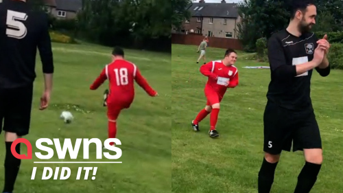 Watch the sweet moment UK lad with Down syndrome scores a goal and wins 'Man of the Match' at local team's game (RAW)