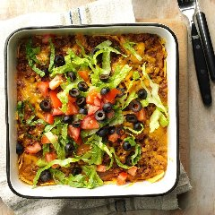 Discover taco casserole