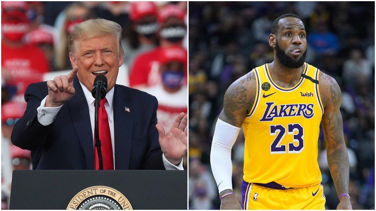 Trump takes aim at LeBron again