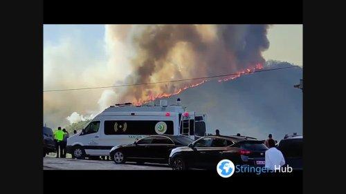 Turkey: Forest Fire Erupts In Marmaris, Muğla Province, Turkey