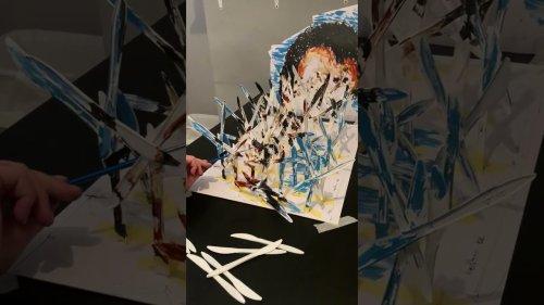 Talented Artist creates an Unbelievable Optical Illusion