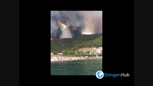 Turkey: Forest Fire Threatens Houses And Hotels In Southern Resort City