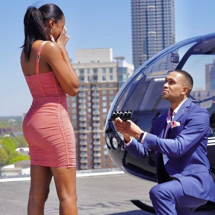 Couple goes viral after five-ring proposal