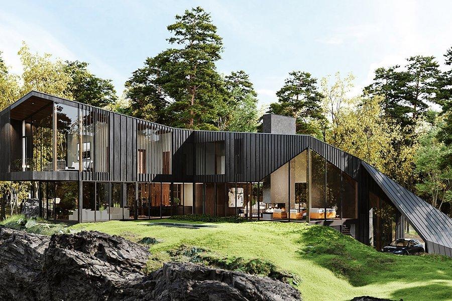 Aston Martin Designs the Luxurious Sylvan Rock House