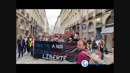 Anti-health pass protest in Rennes, France