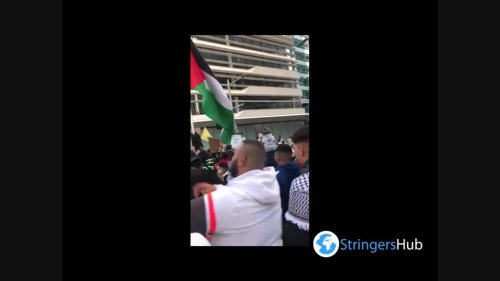 "Australia: Protesters Take To Streets Of Sydney ""Free Palestine"" Rally"