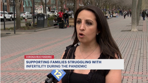 Woman diagnosed with infertility looks to support other families during the pandemic