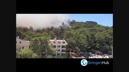 New wildfire in Turkey: hotels in Marmaris in danger