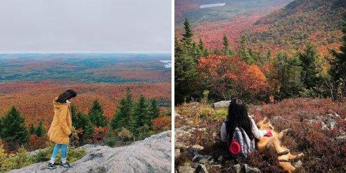 Ce sommet de 713 m à 2 h de QC est parfait pour voir les couleurs de l'automne