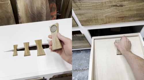 'Talented Woodworker Installs Hidden Drawer Compartment in Storage Console *IMPRESSIVE*'