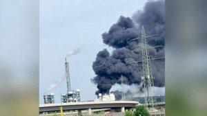 Blast at Chemical Site Paints Sky Black, Leaves 5 Missing