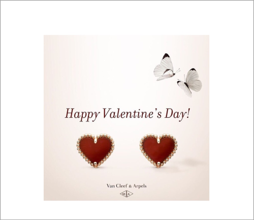 Van Cleef & Arpels wishes you a Happy Valentine's Day! May the carnelian stone act as a symbol of your love.